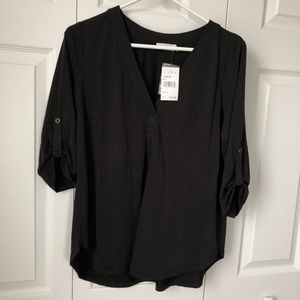 Nordstrom Lush Roll Tab Sleeve Blouse, Small, NWT